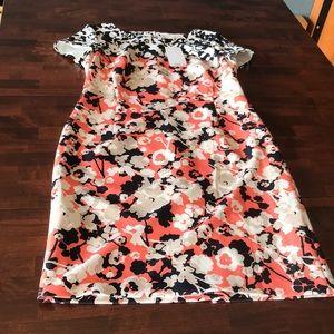 Hugo Boss Donisa Orange flower motif size 8 dress